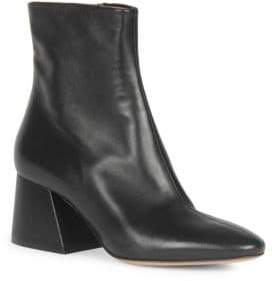 Maison Margiela Chunky Heel Leather Bootie