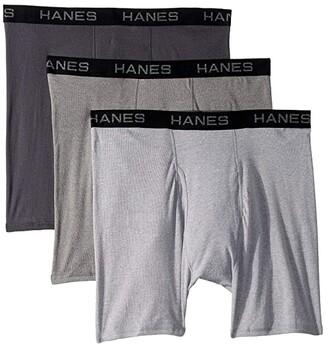 Hanes Core Cotton Boxer Briefs Pack