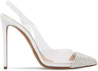 Alexandre Vauthier 110mm Amber Ghost Crystal Pvc Pumps