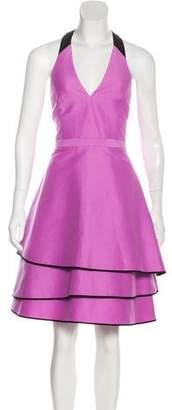 Halston Halter Midi Dress