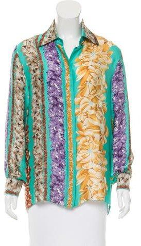 Missoni Floral Print Button-Up Blouse