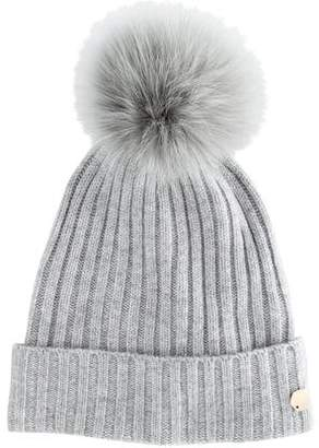 Yves Salomon Salomon Fox Fur Pom-Pom Hat w/ Tags