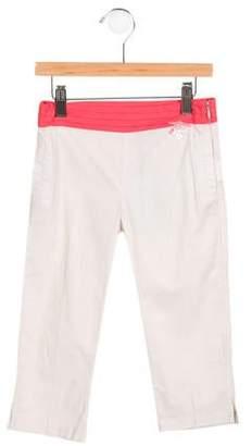 Tartine et Chocolat Girls' Straight-Leg Colorblock Pants w/ Tags