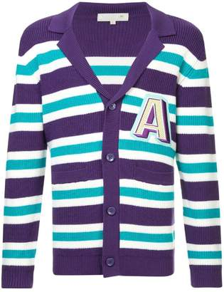 A(Lefrude)E v-neck striped cardigan