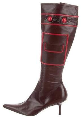 Anya Hindmarch Leather Knee-High Boots