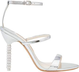 Sophia Webster Rosalind Silver Crystal Heel Sandals
