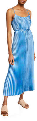 Vince Pleated Cami Maxi Dress