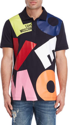 Love Moschino Topple Logo Polo