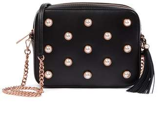 Ted Baker Alessia Leather Faux Pearl Embellished Camera Bag