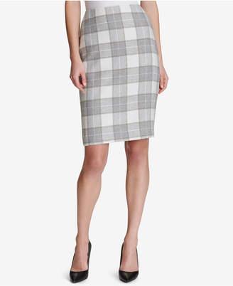 Tommy Hilfiger Plaid Pencil Skirt