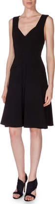 Roland Mouret Miller Sleeveless Dress W/Cutouts, Black