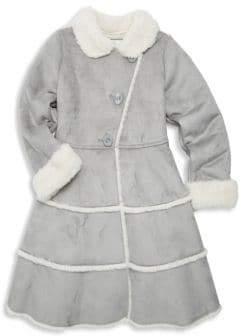 Widgeon Little Girl's& Girl's Tiered Faux Fur Princess Coat