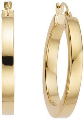 FINE JEWELRY Gold Opulence 14K Gold Over Diamond Resin PolishedSquaredHoop Earrings