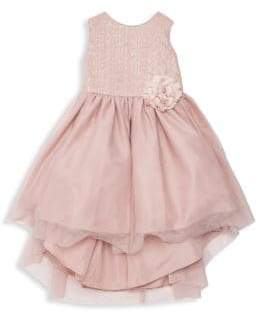 Little Girl's Sequin Bodice High-Low Dress