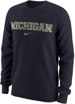 Nike Men's Michigan Wolverines Camo Wordmark Tee