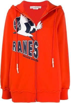 Golden Goose Cranes logo hoodie