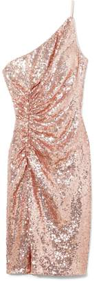 Sequin One-shoulder Dress