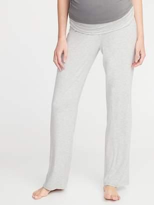 Old Navy Maternity Foldover-Waist Jersey Lounge Pants