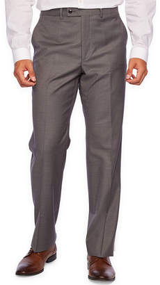 Jf J.Ferrar Gray Stretch Sharkskin Suit Separate Pant Classic Fit Stretch Suit Pants