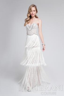 Terani Evening - Stunning Beaded Sweetheart Polyester Column Dress 1712E3251 $605 thestylecure.com