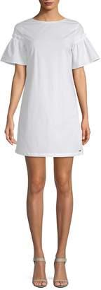 Armani Exchange Women's Pleated Cuff Mini Dress