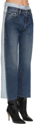 Maison Margiela Double Waist Bicolor Cotton Denim Pants