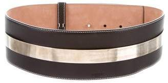 Givenchy Wide Leather Waist Belt