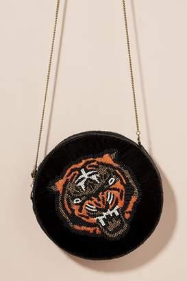 From St Xavier Tiger-Beaded Shoulder Bag