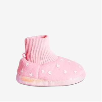 Joe Fresh Toddler Girls' Sock Slippers, Light Pink (Size L)