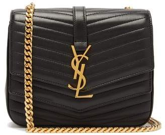 Saint Laurent Sulpice Chevron Quilted Leather Cross Body Bag - Womens - Black