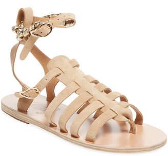 Ancient Greek Sandals Sparta Woven Ankle-Wrap Sandal
