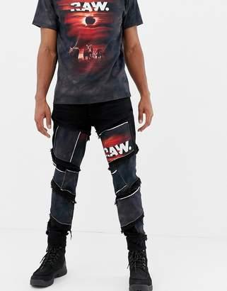 G Star G-Star x Jaden Smith spiral eclipse patches 3d slim jeans