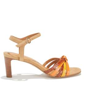8f94277872 RIVECOUR High Heeled Sandals with Multi-Coloured Straps