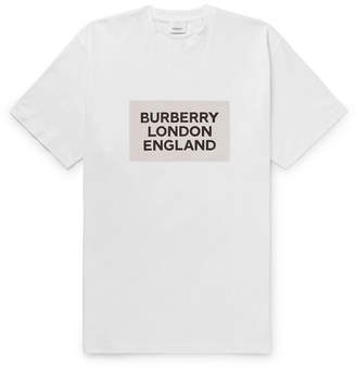 Burberry Printed Cotton-Jersey T-Shirt - Men - White