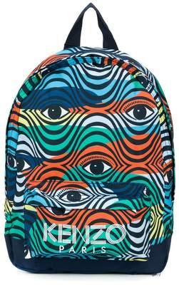 Kenzo eye print backpack
