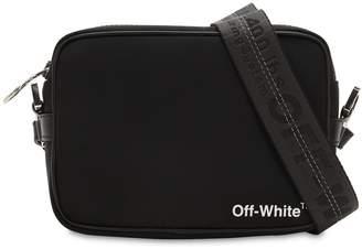 Off-White Nylon Crossbody Bag W/ Webbing