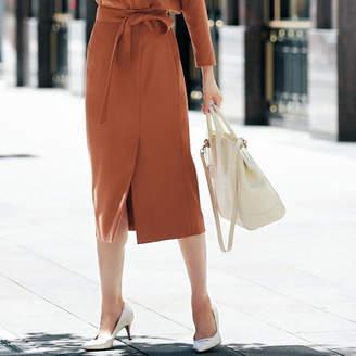 M7days (エムセブンデイズ) - M7days for Office ラップ風デザインスカート
