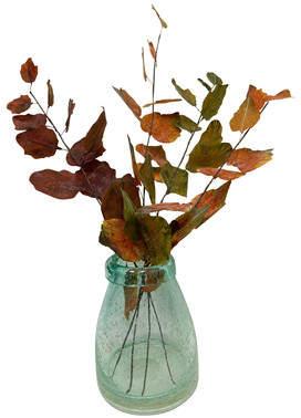 August Grove Autumn Foliage Stems Desk Top Plant in Vase
