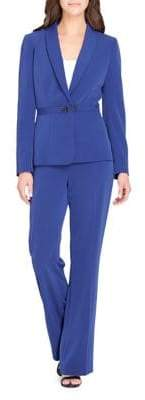 Tahari Arthur S. Levine Two-Piece Shawl Collar Jacket and Pants Suit