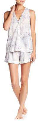 Elie Tahari Tank & Shorts Floral Print Pajama 2-Piece Set