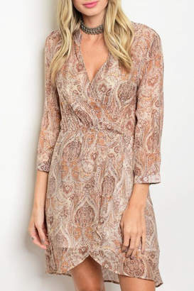 Grifflin Paris Paisley Wrap Dress