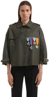 Stella Jean Embellished Cotton Military Jacket