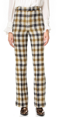 Whistles Margot Split Hem Flare Pants $470 thestylecure.com