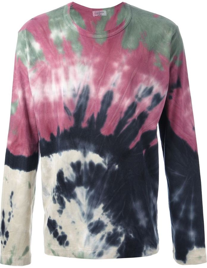 Yohji Yamamoto tie-dyed long sleeved t-shirt