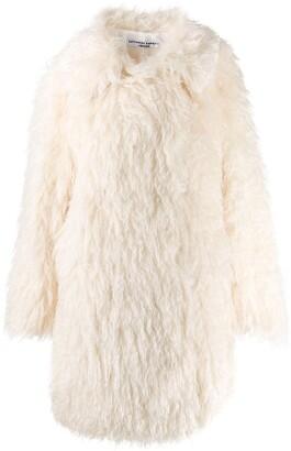Katharine Hamnett Samantha long shaggy coat