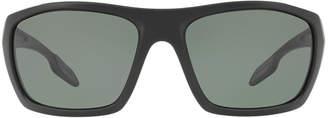 Prada Linea Rossa Ps 06ss 61 Black Rectangle Sunglasses
