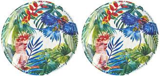 Les Jardins De La Comtesse Les Jardins de la Comtesse - Tropical Birds Dinner Plates - Set of 2