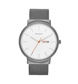 Skagen Ancher Silver Stainless Steel Mesh Watch