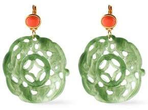 Kenneth Jay Lane Bead Resin And Gold-Tone Earrings