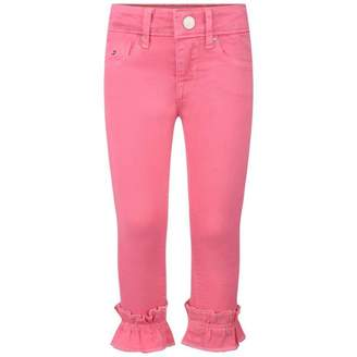 Tommy Hilfiger Tommy HilfigerGirls Pink Ruffle Skinny Nora jeans